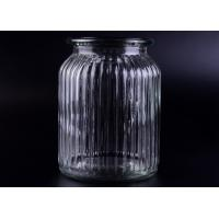 Clear Tall Soy Glass Bottle Candle Holders / 1000ml Glass Candlestick Holders Manufactures