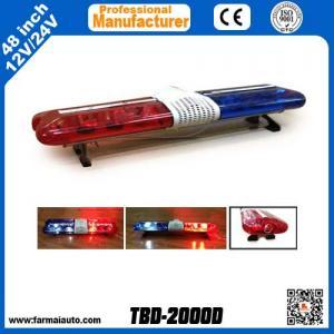 China Rotating Warning Lightbar Halogen light bar DC12V TBD-2000D Police vehicle flash light (Nigeria) on sale