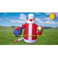 Holiday Inflatable Cute Santa Claus  for Christmas , PVC Inflatable Santa ASTM Standard Manufactures
