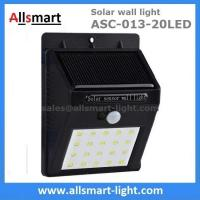 Exterior 20LED Wall Mount  Black Lampshade Solar Motion Sensor Wall Light Outdoor Wall Lamp Solar Lighting Manufactures