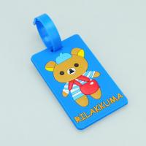 2014 bear logo Custom blue 10.5*5.5*0.5 cm luggage tag Manufactures