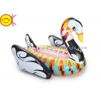 No Odor Inflatable Water Floats , Inflatable Swan Float For Party Manufactures