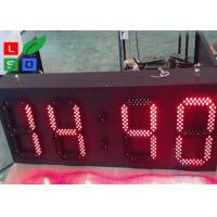 Quality P10 Red LED Time And Temperature Programmable Digit Signs Auto Dimming By Sensor for sale