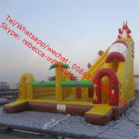 inflatable pool slide with climbing wall Manufactures