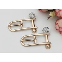 Beautiful Rectangle Small Shoe Buckles , Zinc Alloy Gold Metal Buckle Fashionable Manufactures