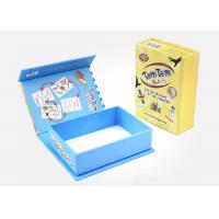 Pretty Cardboard Shirt Boxes , Magnetic Flip Top Box With Flocking Plastic Blister Manufactures