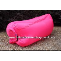 Quality Durable Red Inflatable Sleeping Bag / Air Chair For Relaxing Water Resistant for sale