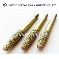 China Conical Brazing and Sintered Diamond Router Bits for Marble Granite Stone 3D Carving and Cutting on sale