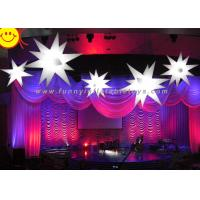 LED Lighting Stars Inflatable Party Decorations With High Air Tightness , Digital Printing Manufactures