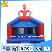 Popular Spider Man Kids Commercial Inflatable Bouncers Blue Durable Manufactures