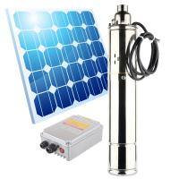 deep well Submersible solar waterpump for agriculture solar water pump 24v / 36v / 48v / 72v dc solar water pump Manufactures