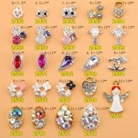 Hot NEW Wholesale Alloy Jewelry 3D Nail Art Jewelry Nail rhinestones Sticker Supplier Number ML2490-2513 Manufactures