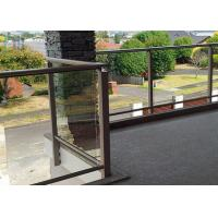 Quality Polished Outdoor Stair Handrail Lightweight Aluminum Railings For Decks for sale