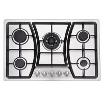 5 Ring Built In Gas And Electric Hob With 201 /304 SUS Stainless Steel Panel Manufactures