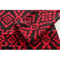 Quality Geometrical black and red wool-like ladies casual long dress for Autumn for sale
