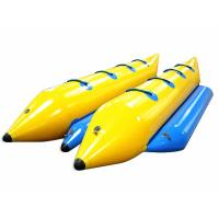 Yellow Waterproof PVC Inflatable Boat Excellent Peeling Material For Summer Toys Manufactures