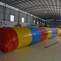 Red And Yellow PVC Interactive Games Inflatable Water Toys / Inflatable Water Flipper With Air Pump Manufactures