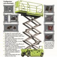 AWP EWPs hydraulic 9m 29ft 450kg capacity elevated work platform scissor lift for renting Manufactures
