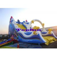 Residential Fish Children Inflatable Slides Playground Game Inflatable Fun For Kids Manufactures