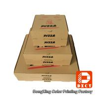 Kraft Paper Plain Brown Pizza Packaging Boxes 6 Inch Square Shape Offset Printing Manufactures