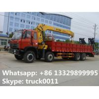 dongfeng LHD 8*4 16tons heavy duty cargo truck with crane for sale, best price dongfeng brand 16tons truck crane Manufactures