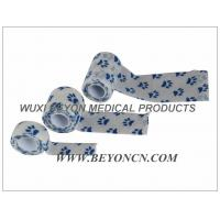 Paw Prints Wrap Custom Printed Non Woven Pet Bandages Cohesive Elastic Wrap Manufactures