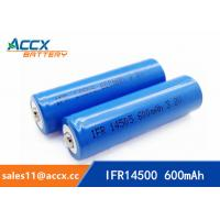 shaver battery lithium ifr14500 3.2v 600mAh AA rechargeable battery Manufactures