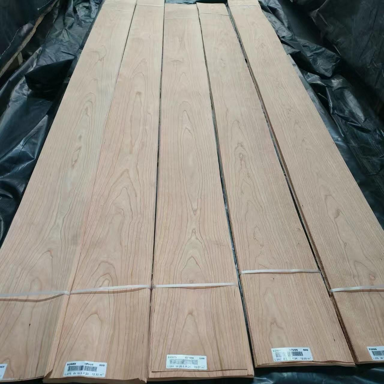 China Flat Cut American Cherry Wood Veneer for Door Cabinet and Furniture on sale