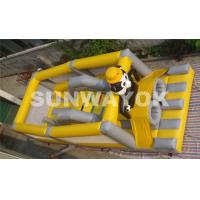 Panda Soccer Player Inflatable Obstacle Course , Inflatable Outdoor Play Equipment Manufactures