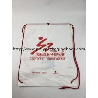 Buy cheap stomized Plastic Drawstring Backpack, Bag with LOGO from wholesalers