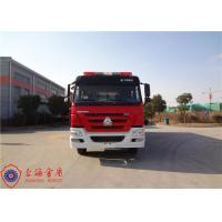 6x4 Drive Type Foam Fire Truck With Flat Top Metal Forward Turnover Cab Manufactures