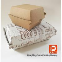 Quality Grease Proof Recycled Fast Food Packaging Foldable With Offset Printing for sale