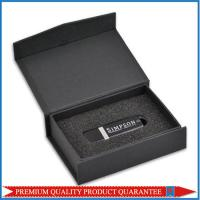 Black Foam Insert Custom Logo Print Paper Gift Box for USB Flash Disk Manufactures