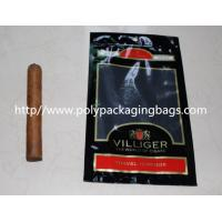Moisture Proof Plastic Cigar Packaging Bag With Resealable Ziplock Manufactures