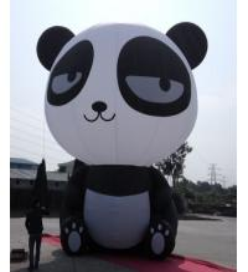 Quality Oxford Cloth Inflatable Panda , Custom Inflatable Products Cartoon Inflatable for sale