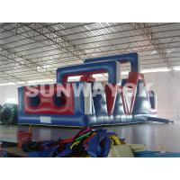 Fireproof Tarpaulin Inflatable Obstacle Course , moon bounce obstacle course Manufactures