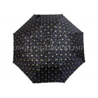 Small Black Parasol 2 Fold Umbrella / 23 Inch Umbrella As Creative Gifts Manufactures