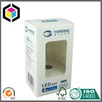 Clear Plastic Window LED Bulb Paper Packaging Box; Color Printing Carton Box Manufactures