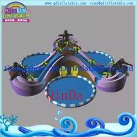 Inflatable Slide with Water Pool Water Park Giant Inflatable Pool Water Slide for Sale Manufactures