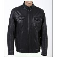 Customized Black, Big and Tall Mens Designer Leather Jackets with High Quality Zippers Manufactures