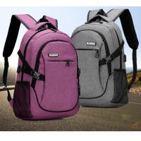 Outdoor Anti Theft Business Laptop Backpack With Charger Built In / External USB System Manufactures