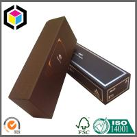 100% Food Grade Wine Paper Packaging Box; Luxury Gold Foil Logo Wine Box Manufactures