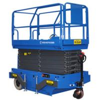 Quality 6m Height Mobile Scissor Lift with Motorized Device of Loading Capacity 300kg for sale