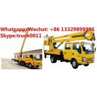 Japan brand ISUZU 12M,14M,16M aerial working platform truck for sale, HOT SALE! best price ISUZU overhead working truck Manufactures
