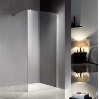 Clear Glass Shower Enclosures Kits With Stainless Steel Support Bar / Chrome Profile Manufactures