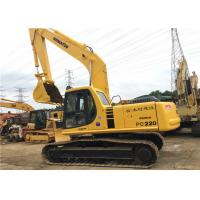 Used Komatsu Crawler Hydraulic Excavator PC220 22180kg Operate Weight With 1m3 Bucket Manufactures