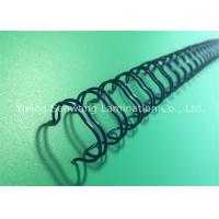 Blue Double Loop Wire Book Binding Combs With Nylon - Coated Steel Wire Manufactures