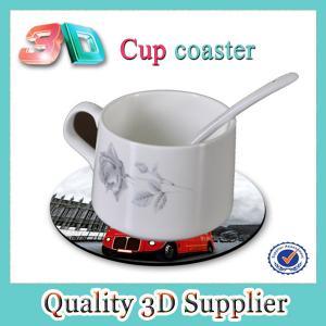 Customized lenticular 3D cup coaster Manufactures