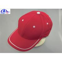 Buy cheap Adult 6 Panles Sports Baseball Caps with Contract color Eyelet , Back Snapback from wholesalers
