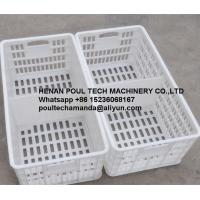 Quality Poul Tech White Color PE Material Broiler Chicken Carriage Cage & Plastic Transport Cage for Poultry Farm for sale
